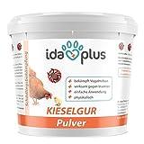 Ida Plus - Kieselgur - 600 g - Kieselerde Pulver für Hühner, Geflügel & Kaninchen | Diatomeenerde als Mittel gegen Vogelmilben, rote Vogelmilbe, Raubmilben, Ameisen & Insekten im Hühnerstall