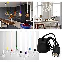 Princeway Colorido Silicona Lamparas de Techo Colgantes- Portalampara E27- Europea Moderna IKEA Estilo-