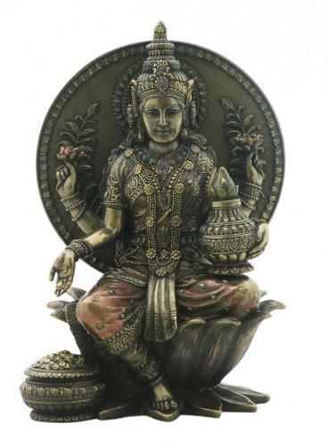 lakshmi-indische-gottin-des-glucks-sitz-auf-thron-figur-bronziert-skulptur