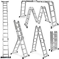 Grandmaster - Escalera Multifunción de aluminio 5,75M Plegable 6 en 1 Multiuso - AG/DLM-105