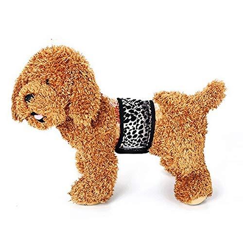MegOK Wiederverwendbare Wickelwindeln für Hunde waschbar Welpen Physiologie Band bequem und atmungsaktiv Hundebedarf, als Show, XL, China -