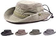 Obling Cappello estivo, unisex, a tesa larga, protegge dai raggi UV, antivento, per attività all'ap