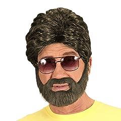 Idea Regalo - NET TOYS Parrucca di Uomo con Barba | Parrucca di Hangover con Barba Piena | Capelli per Carnevale | Parrucca Alan Hangover