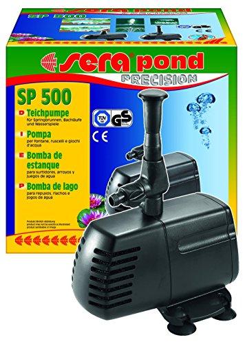 sera 30020 pond SP 500 Teichpumpe (750 l/h bei 18 Watt mit Hmax: 1,0 m) für kleine Filtersysteme und Springbrunnen geeignet