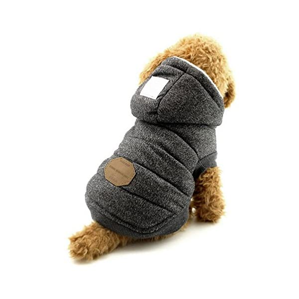 SELMAI Hooded Dog Coat Stylish Small Puppy Dog Clothes(This style run small,pls choose one size larger) 9