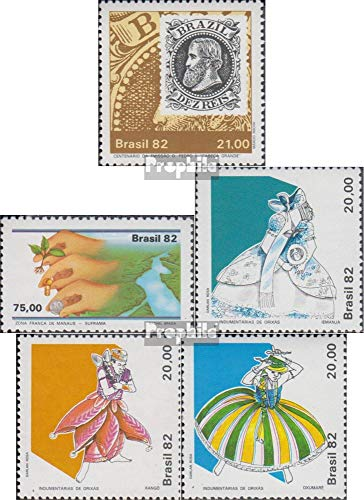 Brasilien 1910,1911,1912-1914 (kompl.Ausg.) 1982 Philatelie, Manaus, Trachten (Briefmarken für Sammler) Uniformen / Trachten