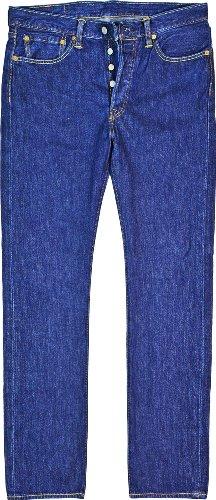 Levi's Herren Jeans 501 Straight Leg normale Länge 30 cm Blau - Denim