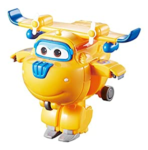Alpha Animation & Toys- Transforming Super Wings YW710020 Mini Transform a Bots Donnie Plane, Color azul, naranja (