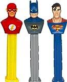 Justice League Pez Dispenser mit zwei refils (Einzeln Verkauft, Eine zufällige Buchstaben mitgeliefert)