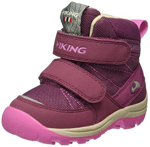 Viking Unisex-Kinder Rissa Mary Jane Halbschuhe Pink (Plum/Dark Pink 6239)