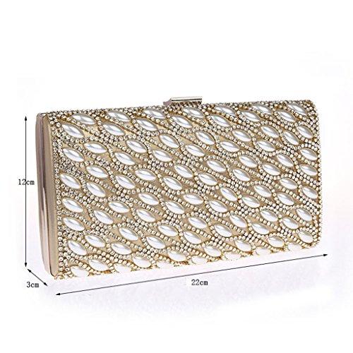 borsetta borsa Nuovo sacchetto di modo diamante borsa da sera di banchetto della sposa abiti da damigella ( Colore : Nero ) Nero