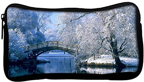 Snoogg Frozen Tree By Lake Side Poly Canvas Student Pen Pencil Case Coin Purse Utility Pouch Cosmetic Makeup Bag  available at amazon for Rs.225