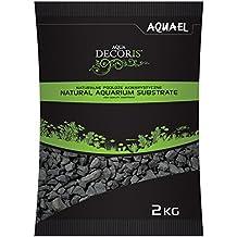 Aquael – Gravilla de 2-4mm, 2kg de arena para base de acuario