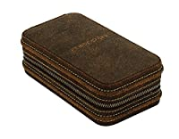 friedrich|23Unisex Watch Box For 2Watches Leather Brown 270196