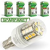 LumenStar® 4er Pack LED E14 Lampe 5 Watt - 400lm, 2700k extra warmweiß, 270° Abstrahlwinkel, ersetzt 40W - Lucca