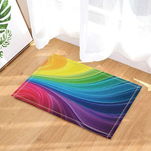 SHUHUI Wunderschönen Regenbogen blau grün rot gelb Halo Lutscher Wasserdicht Rutschfest Keine Chemikalien Fußmatten