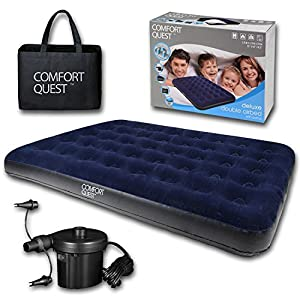 515a9BWgyPL. SS300  - Comfort Quest Airbed Inflatable Blow Up Camping Mattress Guest Air Bed