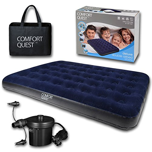 515a9BWgyPL. SS500  - Comfort Quest Airbed Inflatable Blow Up Camping Mattress Guest Air Bed