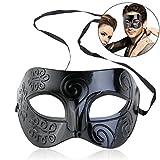 WINOMO Römische Maskerade Maske schwarze venezianische Maske Männer Frauen Kostüm Party Halloween