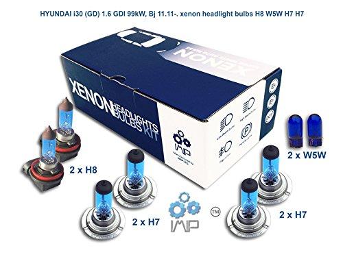Xenon Effekt Auto Lampen Scheinwerfer H8W5W H7H7, 8er Pack
