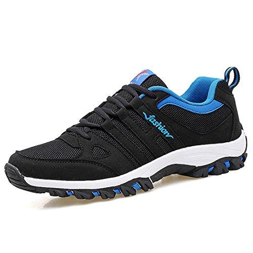 Uomo Scarpe sportive Antiscivolo Scarpe da corsa traspirante Scarpe da trekking formatori euro DIMENSIONE 39-44 Blue