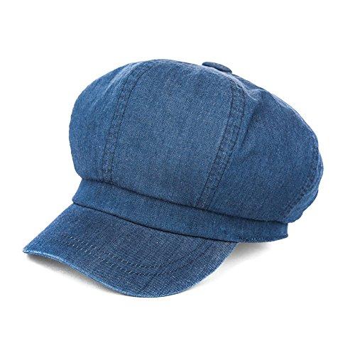 SIGGI Schirmmütze Barett Maler Mütze Damen mit Visor, 69010_dunkelblau, Einheitsgröße