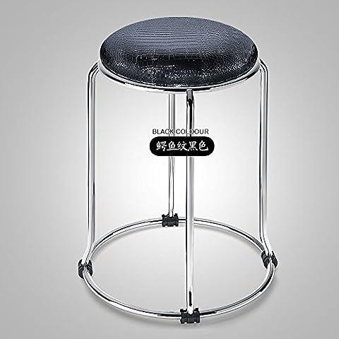 Acciaio inossidabile metallo coccodrillo bianco sgabello in pelle larghezza Leisure Chair sedia ristorante Alta Sgabello Sgabello E010 bambino