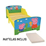 Bebegavroche Lit Enfant Peppa Pig 140X70 cm + Matelas