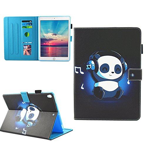 Coque iPad Pro 10.5 - KASOS 360° Rotation Housse Rotatif étui Coque avec Rabat/Stand de Positionnement Support et la Fonction Sommeil/Réveil Automatique, Panda de musique