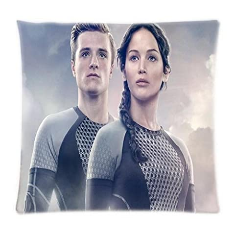 uk-jewelry Peeta Hunger Games The Hunger Games Catching Fire Couvre-lit productation Cool Housse de couette Taie d'oreiller 45,7x 45,7cm