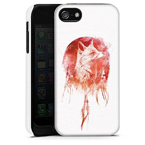 Apple iPhone X Silikon Hülle Case Schutzhülle Fuchs Mond Traumfänger Tough Case matt