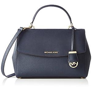 Blaue Leder Handtasche von Michael Kors, Ava, online kaufen
