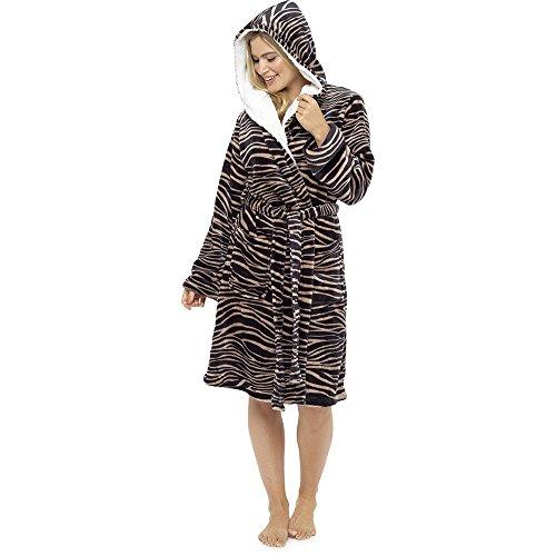 Aumsaa Damen Bademantel Zebra
