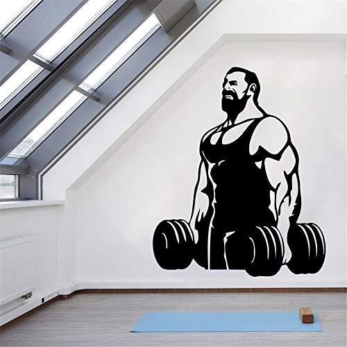 DCTAL Fitness Gym Fitness Label Hantel Poster Name Muskel Wand Vinyl Parede Gym Dekorative Aufkleber lila 58x70cm