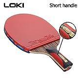 6 Sterne Professionelle Ebenholz Carbon Tischtennisschläger Offensive Ping Pong Paddel mit Tasche