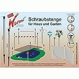 123 cm langer ALUMINIUM STAB mit Schraubspitze + AUFLAGE TELLER FÜR VOGELHAUS (ohne Vogelhaus)+ UNIVERSELLE - FUTTERHAUS - VOGELHAUS - BODEN BEFESTIGUNG - INNOVATIONEN MADE in GERMANY - HOLLY PRODUKTE STABIELO ® - holly-sunshade ®