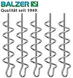 Balzer Shirasu Cork Screw - 5 Spiralen für Gummifische & Jigs, Schraubspiralen für Gummiköder, Screws für Softbaits