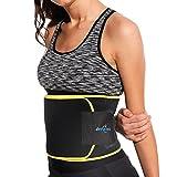 Fitnessgürtel Bauchweggürtel Schwitzgürtel Neopren Bauchgürtel mit Maßband Waist Trimmer Verstellbarer
