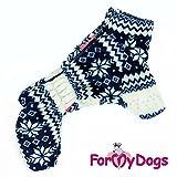 For my Dogs Hunde Winteranzug Anzug Overall Rüde Plüsch kuschelig ohne Kapuze, Farbe:blau, Größe:16
