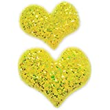 My Party Store DOT COM Cute Stylish Heart Shape Princess Hair Clips For Girls/Kids (Pack Of 2) For Durga Pooja, KANJAK, Navratri, Birthdays And Parties (Golden)