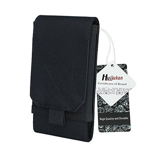 Huijukon Molle táctico móvil Bolsa Grande Smartphone Bolsa para cinturón Funda para 6.3'Samsung Galaxy Note 8LG V305.8' Apple iPhone X 10iPhone 8iPhone 8Plus