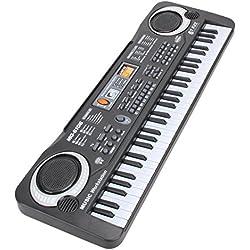 Shayson Kids Piano Multi-función Teclado 61 Teclado Piano Música de órgano electrónico Niño Musical Teclado de karaoke electrónico con micrófono para niños Regalo de niños