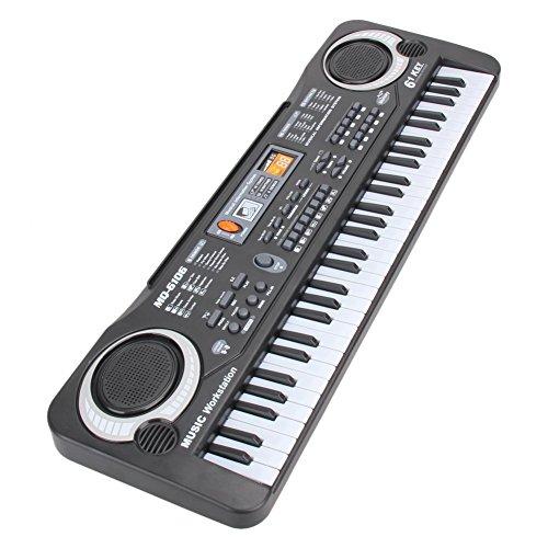 Shayson Kids Piano Multi-function 61 Key Keyboard Piano Electronic Organ Music Child Musical Electronic Karaoke Keyboard with Microphone For Kids Children Gift