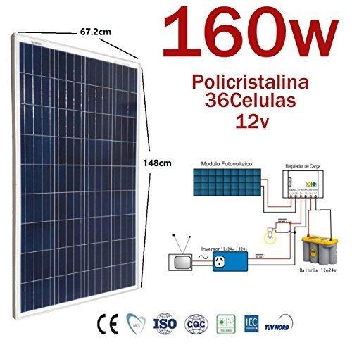 Platte Solar 160w Schalttafel Solar 12v Photovoltaik polykristallinen 36 Zellen für Installation von 12v (Photovoltaik-zellen)