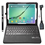 Exclusive design for Samsung Galaxy Tab S3 9.7 tablet,High quality PU leather cover and soft, microfiber-lined interior provide full protection for your tablet. 3-In-1 functionality: Bluetooth V3.0 keyboard + Stand + Premium Carrying Case,it is extre...