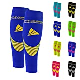 ACTIVE COMPRESSION Calf Sleeves - Extra Strong (blau/gelb, L)