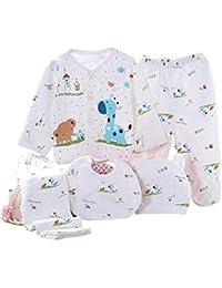 Kris&Ken 3 Colores Bebé 5 Piezas Unisex Recién Nacido Algodón Ropa Set