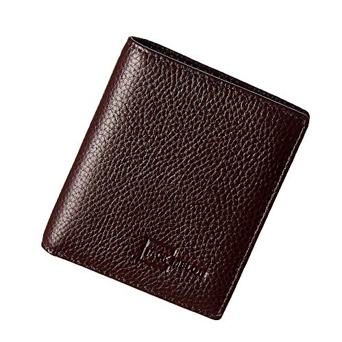 Herren Portemonnaie aus Echt-Leder ohne Münzfach mit RFID Schutz | Classic Slim Wallet von Jack Melon (Dunkelbraun)
