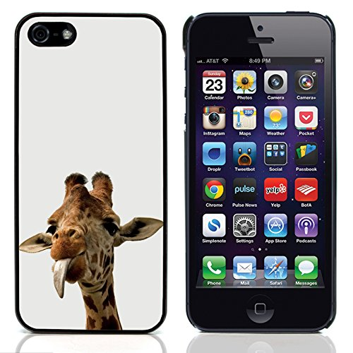 Graphic4You Giraffe Tier Design Harte Hülle Case Tasche Schutzhülle für Apple iPhone 5 und 5S Design #1