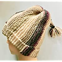 Bonnet pour Femme Homme Bonnet Bandeau Col Mixte Tricot Main Made In France Bonnet fun Rasta idée cadeau Unique pour Noël HeyLaineInFrance,